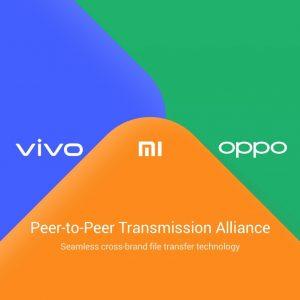 Xiaomi, Vivo y Oppo anuncian la disponibilidad de la función de transferencia de archivos P2P