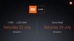 Xiaomi abrirá dos nuevos puntos de venta Mi Home en Bangalore este mes