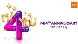 Xiaomi anuncia la venta de Mi 4th Anniversary;  ₹ 4 ventas flash, descuentos y más en oferta