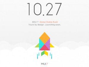 Xiaomi lanzará la versión estable global de MIUI 7 el 27 de octubre