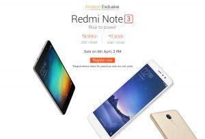 Xiaomi ofrecerá la variante de 3 GB de Redmi Note 3 el 6 de abril