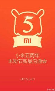 Xiaomi presentará nuevos dispositivos el 31 de marzo