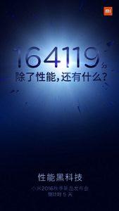 Xiaomi se burla de los puntajes de referencia de Mi 5s;  Cruza la marca 164000