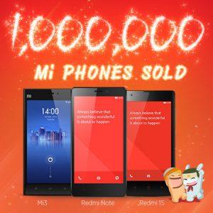 Xiaomi vende 1 millón de teléfonos en India en 5 meses