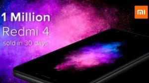 Xiaomi vendió más de 1 millón de unidades de Redmi 4 en India en solo 30 días