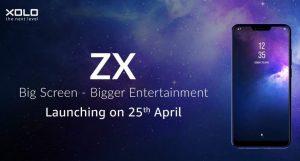 Xolo ZX con 6 GB de RAM y cámaras traseras duales se lanzará el 25 de abril