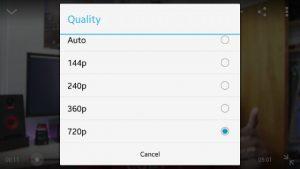 YouTube para Android actualizado con capacidad para elegir la calidad de transmisión manualmente