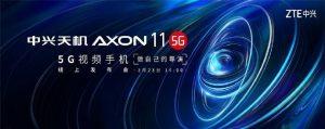 ZTE Axon 11 5G se lanzará en China el 23 de marzo