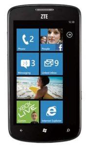 ZTE Tania Windows Phone se lanzará con un procesador actualizado de 1.4GHz