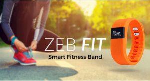 Zebronics ZEB - Lanzamiento de la banda de fitness inteligente Fit100 para Rs.  1414