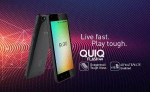 Ziox QUIQ Flash 4G con pantalla de 5 pulgadas y soporte 4G VoLTE lanzado para Rs.  4444