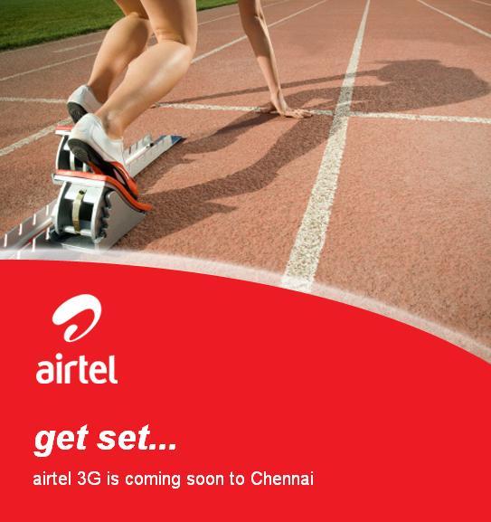 airtel 3G próximamente en Chennai