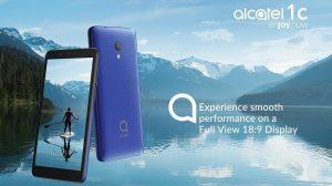 Se anuncia el teléfono inteligente Alcatel 1C (2019) Android Go con pantalla 18: 9 de 5.3 pulgadas y cámara trasera de 5 MP