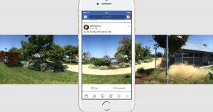 Toma fotos de 360 ° con la aplicación de Facebook
