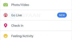 Los usuarios de Facebook en India ahora pueden transmitir video en vivo desde la aplicación de Android