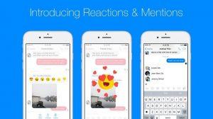 Facebook anuncia reacciones de mensajes y menciones para Messenger