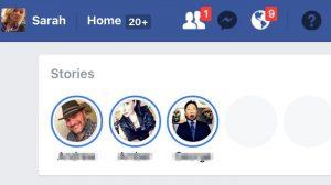 Facebook puede lanzar Historias en su sitio web de escritorio pronto