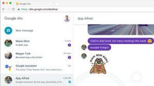 La aplicación de mensajería inteligente de Google, Allo, pronto tendrá un cliente de escritorio