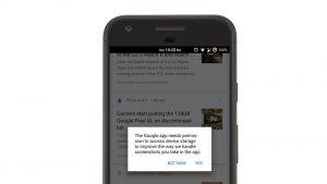 Herramientas de dibujo y recorte de capturas de pantalla que se están probando en la aplicación de Google