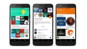 Lanzamiento de podcasts para Google Play Music