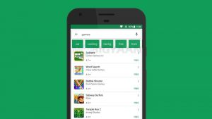 Google implementa filtros de búsqueda en Play Store para todos
