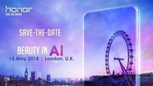 Honor anunciará un nuevo teléfono el 15 de mayo con funciones basadas en inteligencia artificial, podría ser el Honor 10