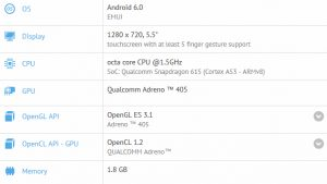 Honor 5A Plus visto en GFXBench con Snapdragon 615 SoC, 2 GB de RAM y pantalla HD