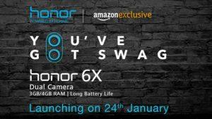 Honor 6X se venderá exclusivamente a través de Amazon a partir del 24 de enero en India