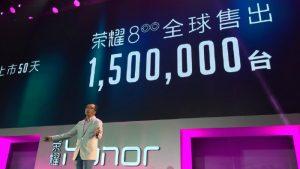 1,5 millones de unidades de Honor 8 vendidas desde su lanzamiento en julio