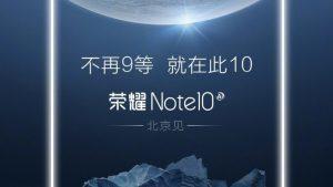 Honor Note 10 se lanzará pronto, aparece en Geekbench con especificaciones