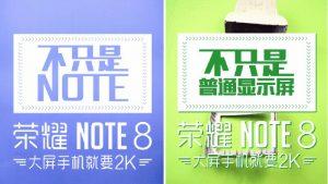 Honor Note 8 con pantalla 2K provocada