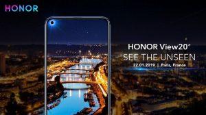 Honor View20, que se lanzará el próximo año el 22 de enero, vendrá con una cámara trasera de 48 MP y una cámara frontal en pantalla.