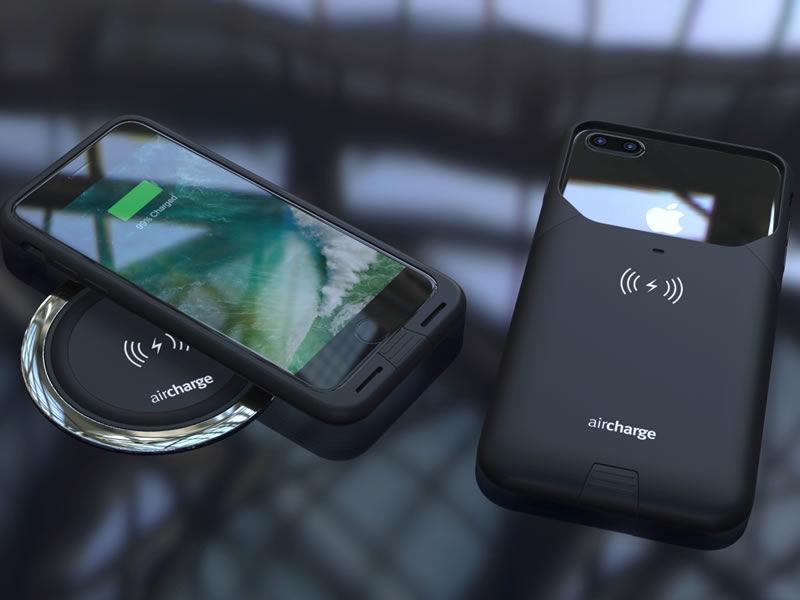 Estuche de carga inalámbrica Aircharge MFi para iPhone 7