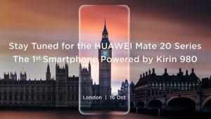 Kirin 980 impulsado por Huawei Mate 20 y Mate 20 Pro se presentará el 16 de octubre