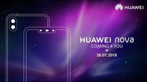 Huawei lanza Nova 3 y Nova 3i en India el 26 de julio