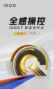 iQOO 7 con tecnología Snapdragon 888 se lanzará el 11 de enero
