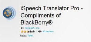iSpeech Translator Pro disponible de forma gratuita para su teléfono BlackBerry