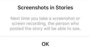 Instagram ya no notificará a las personas cuando tomes una captura de pantalla de su historia.