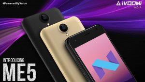 iVoomi Me5 con Android 7.0 Nougat, batería de 3000 mAh y 4G VoLTE lanzado en India por ₹ 4499