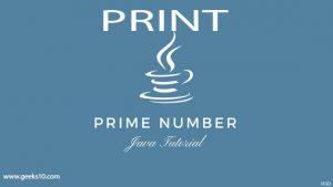 Cómo imprimir el número primo de un rango determinado: programa Java para números primos