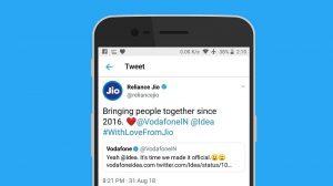 Reliance Jio se burla de Vodafone e Idea al finalizar su fusión