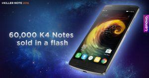 Lenovo vendió 60.000 notas K4 en venta flash hoy