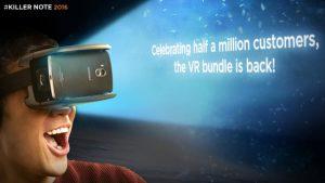 El paquete Lenovo Vibe K4 Note VR está disponible nuevamente por ₹ 12,499 en Amazon India