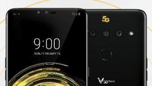 LG V50 ThinQ renderiza fugas en línea que revelan una pantalla con muescas, compatibilidad con 5G y cámaras traseras triples