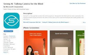 La aplicación Microsoft Seeing AI lanzada para iOS ayudará a las personas con discapacidad visual a ver