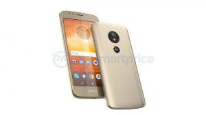 La imagen filtrada del Moto E5 muestra un escáner de huellas dactilares montado en la parte trasera con el logotipo de Motorola encima