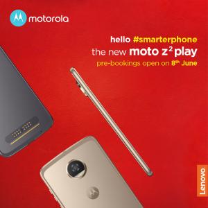 Moto Z2 Play llegará pronto a las costas de la India, la reserva anticipada comienza a partir del 8 de junio