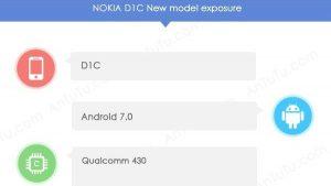 Nokia D1C aparece en AnTuTu con Android 7.0 Nougat, 3 GB de RAM y cámara de 13 MP