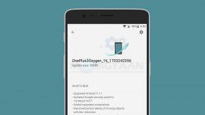 Actualización de OxygenOS 4.1.3 que se implementa en OnePlus 3 y 3T