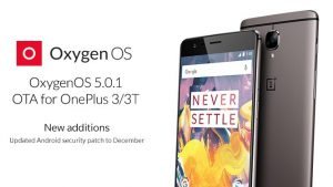 OnePlus 3 y 3T reciben la actualización OxygenOS 5.0.1 con parche de seguridad actualizado y compatibilidad con aptX HD